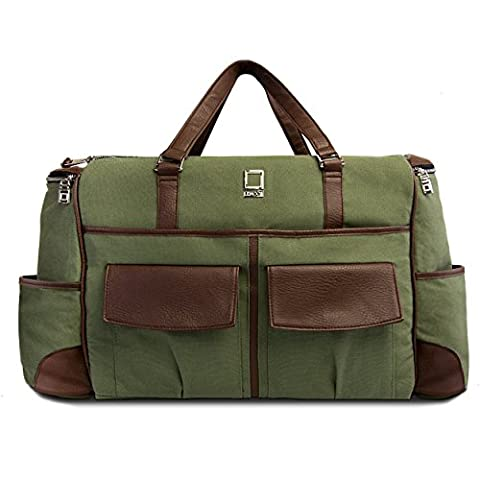 Lencca Green and Brown Alpaque Duffel Water-Resistant Luggage Laptop Bag for MSI Prestige / GT (Msi Gt70 Gtx980)