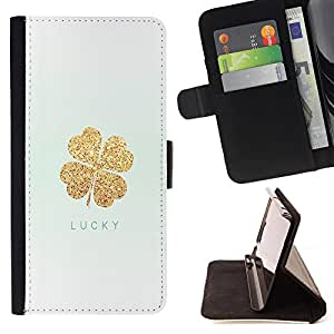 - Luck - - Style PU Leather Case Wallet Flip Stand Flap Closure Cover FOR Sony Xperia Z1 Compact D5503 - Devil Case -
