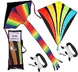 Best Kites For Kids - Rainbow Delta and diamond kite (2sets) kite Review
