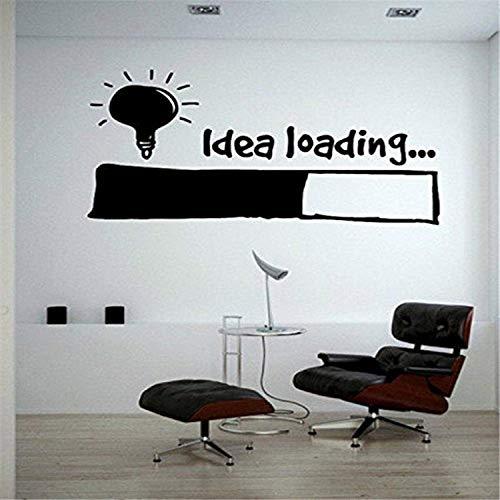Idea Loading Light Bulb Lamp Window Car DIY Silhouette Clip Art Wall Decals Decor Vinyl Sticker SK14071