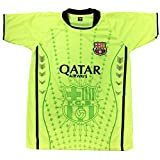 Men FC Barcelona FCB Jersey Soccer Football Lime Green