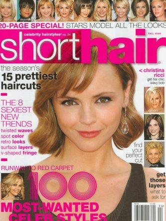 Short Hair Celebrity Hairstyles Christina Ricci Cover 13 Greenberg Amazon Com Books