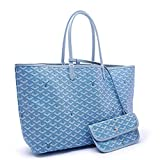 Goyarr Handbag Biggest GM Large Size 22''x12''x6'' Gift for Women Delicate Super Star Bag(Lightblue)