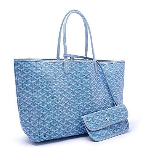 (Agote Women Fashion Shipping Shoulder Tote Bag Set (AAAA-lightblue))