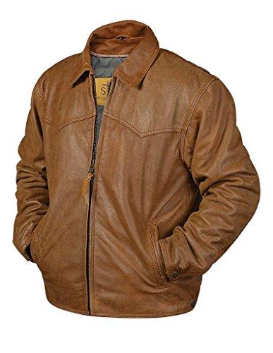 Sts Ranchwear By Carroll Men's Vegas Buckskin Leather Jac...