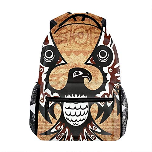 (All Over Printed Backpack With Padded Straps Native American Thunderbird Laptop Bag Travel Daypack)