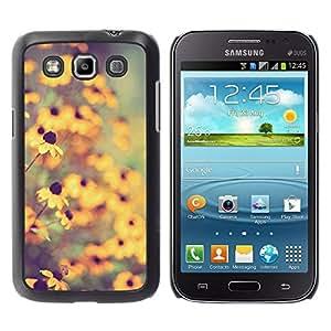 YOYOYO Smartphone Protección Defender Duro Negro Funda Imagen Diseño Carcasa Tapa Case Skin Cover Para Samsung Galaxy Win I8550 I8552 Grand Quattro - naturaleza campo de sol del verano desenfoque amarilla
