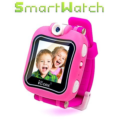 iCore Kids Watch, Durable Smart Watch for Kids, Game Pink Camera Smartwatch, Digital Touch Screen Kid Watches with Alarm Clock Stopwatch, Toys Video Games Girls Boys by iCore (Image #9)