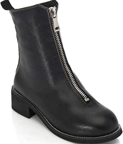 Mouton Martin Femmes Cuir De Cuir Boots Shiney en en wOkn80P
