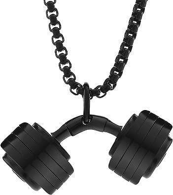Stainless Steel Dumbbell Pendant For Women and Men Gym Pendant Fitness Pendant