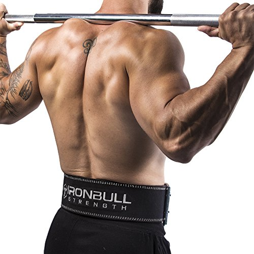 Iron Bull Strength Powerlifting Belt - 10mm Double Prong - 4-inch Wide - Heavy Duty for Extreme Weight Lifting Belt (All Black, Small) by Iron Bull Strength (Image #4)