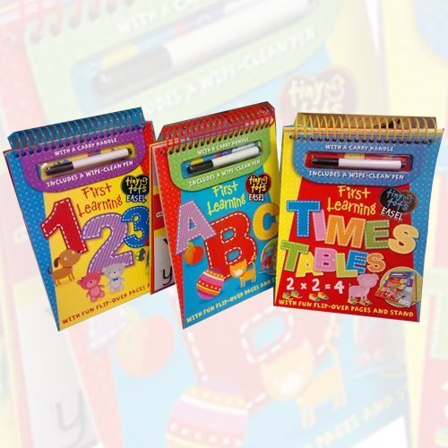 Tiny Tots First Learning 3 Books Bundle Collection (Tiny Tots First Learning 123 - Explorers,Tiny Tots First Learning ABC - Explorers, Tiny Tots First Learning Times Tables - Explorers)
