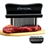 XSpecial Meat Tenderizer Tool  TRY IT NOW, Taste The Tenderness or REFUNDED! - Kitchen Gadget Tenderizers 48 Blades Stainless Steel Needle + Best For Tenderizing, BBQ, Marinade & Flavor Maximizer!