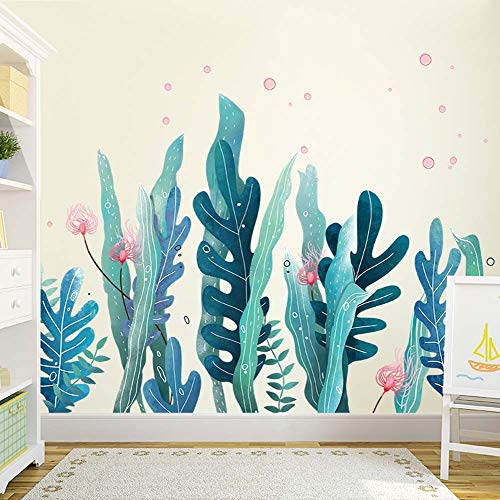 HLB 11373cm Seaweed Baseboard Skirting Line Sea Plant Wall Sticker Paper Home Decal Removable Wall Vinyl Living Room Bedroom Art Picture Murals Waterproof Sticker