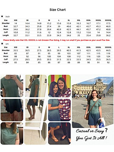 3b8d591a47d7 Romwe Women s Tunic Swing T-Shirt Dress Short Sleeve Tie Dye Ombre Dress  Green XXX
