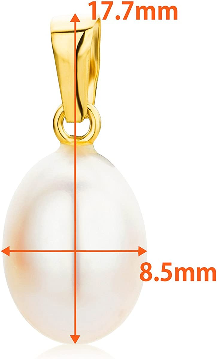 Orovi Woman Pendant 18 ct //750 Yellow Gold White Freshwater Pearl