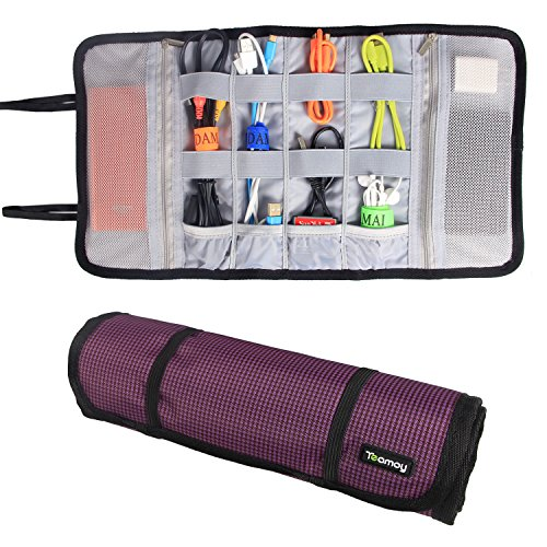 Teamoy Organizer Earphones Holders Purple