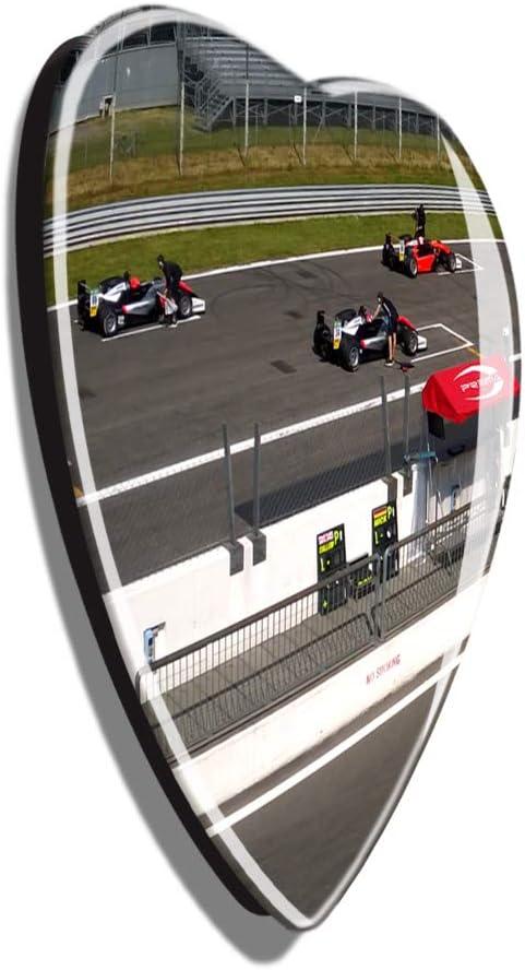 Hqiyaols Souvenir Italia Autodromo Nazionale di Monza Frigo Magnete A Forma di Cuore Cristallo Adesivo per Frigorifero Viaggio Regalo Collezione Souvenir