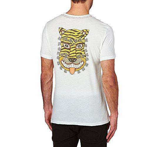 RVCA T-shirts - RVCA Leines Tiger T-Shirt - Vintage White
