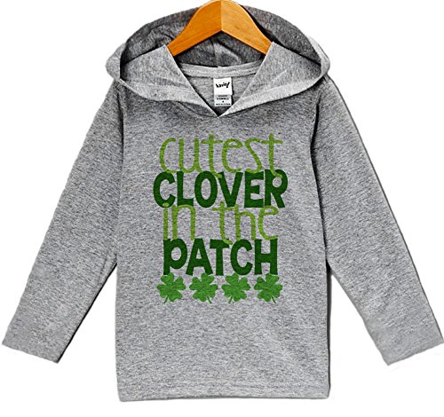 7 ate 9 Apparel Baby's Cutest Clover ST Patrick's Day Hoodie Pullover 24 - Baby Ate The