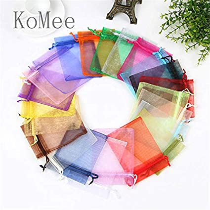 Amazon.com: XLPD 100Pcs/Lot 5X7 7X9 9X12cm Small Organza ...