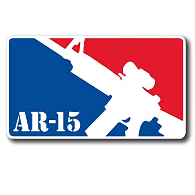 "StickerJOE AR-15 Major League Pro Gun Bumper Sticker 6"" X 3.5"": Automotive"