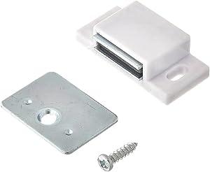 MPJ Shutter Hardware 50631-R 15lb Single Magnetic Catch White/zinc Retail Pack (10)