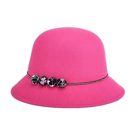 VI. yo gabba mujeres Lady cubo sombrero Vintage elegante fieltro de lana  bowler gorro de 8a13ff0cc38