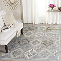 Safavieh Vintage Collection VTG572L Transitional Light Blue and Ivory Distressed Runner (22 x 8)