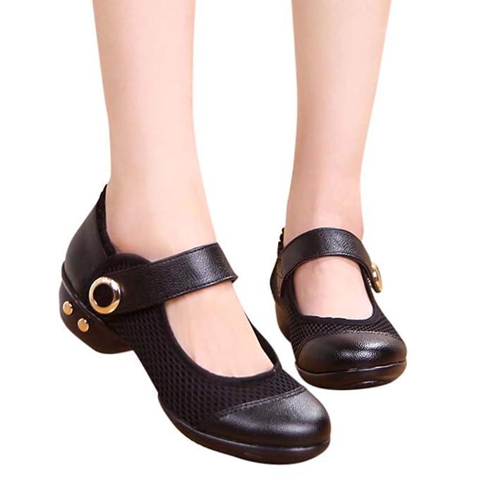 Bestow Zapatos de Baile Latino de Encaje de Media Red Zapatos de Baile de Ballet Zapatos de Solteros: Amazon.es: Ropa y accesorios