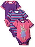 Twins Baby Girls Bodysuit, Shortsleeve, 3-Pack, Multicoloured (Pink/Lila), 6-9 Months (Manufacturer Size: 74)