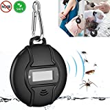 Gooldee Portable Ultrasonic Pest Repeller, Built in Compass Outdoor Mosquito Repellent, Solar or Micro USB Charged, Smart Chip Control Reject Mice, Ants, Cockroaches, Mosquitoes etc.