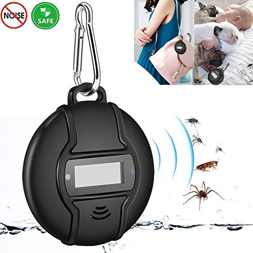 Gooldee Portable Ultrasonic Pest Repeller, Built in Compass Outdoor Mosquito Repellent, Solar or Micro USB Charged, Smart Chip Control Reject Mice, Ants, Cockroaches, Mosquitoes etc. by Gooldee