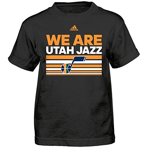 fan products of NBA Utah Jazz Boys Born One Short Sleeve Tee, Medium (5-6), Black