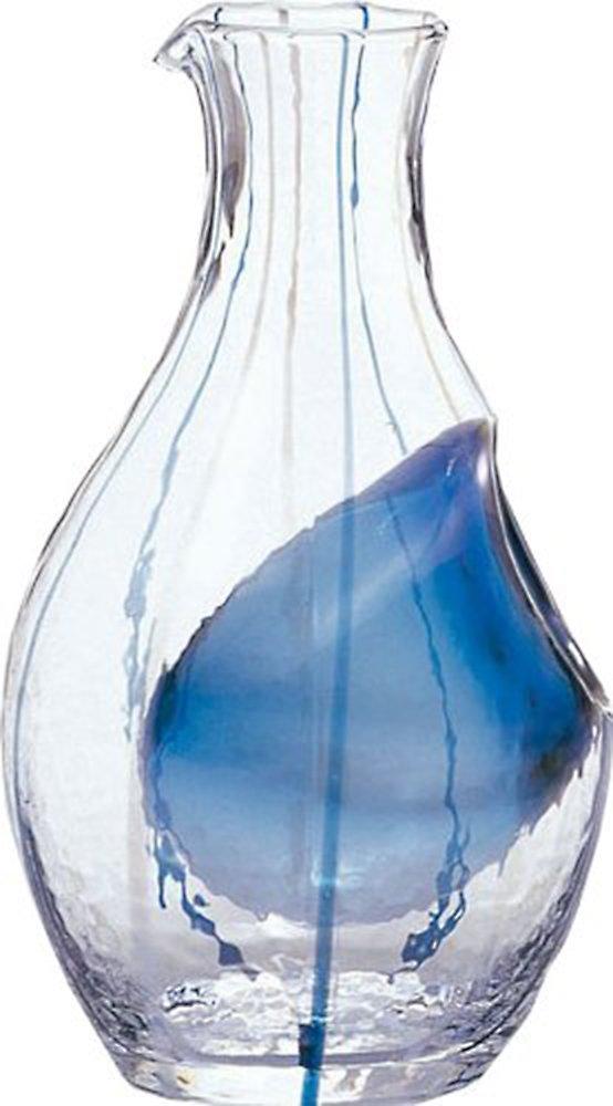 Sum glass cold sake carafe (Blue) 300ml (japan import) Toyo sasaki glass 61507