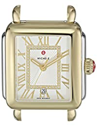 MICHELE Women's 'Deco Madison Head' Swiss Quartz Stainless Steel Casual Watch Head(Model: MW06T00C9018)