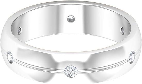anillo de boda unisex con diamante