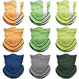 PESOENTH 9 Pack Headbands Colorful Headwear Scarf Sun Hat Neck Gaiter Headwrap Sport Sweatband Men Women Balaclava Outdoor for Dust Wind Proof,Anti-Spitting