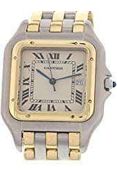 Cartier Panthere swiss-quartz white mens Watch NA (Certified Pre-owned)