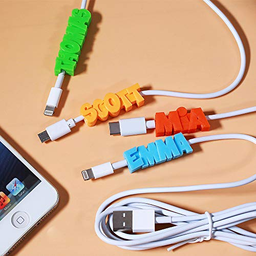 USB Cable 3D Print Personalized Name - for iPhone/Type C/Micro USB Port Adapter - Custom Fast Charging Phone Charger