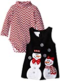 Bonnie Baby Baby Girls' Snowman Applique Fleece Jumper