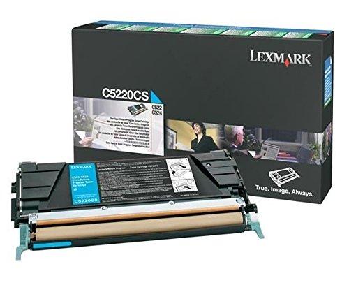 Lexmark C5220CS Cyan Return Program Toner Cartridge - Lexmark C5220cs Cyan Toner