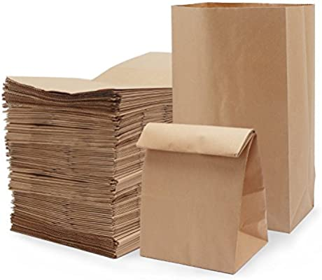 f77f0ac666c1 Paper Lunch Bags, Segarty Brwon Kraft Paper Grocery Bags 11'' X 6'' X 4''  100 Count, Durable Oil-Proof Bread Bags Snack Bags