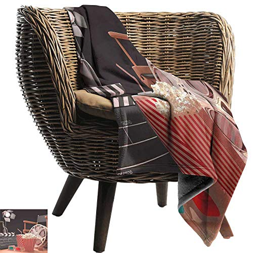 Sillgt Nap Blanket Movie Theater Objects of The Film Industry Hollywood Motion Picture Cinematography Concept Lightweight Bed or Couch Blanket 70