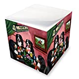 Home of Bernese Mountain Dog 4 Dogs Playing Poker Note Cube