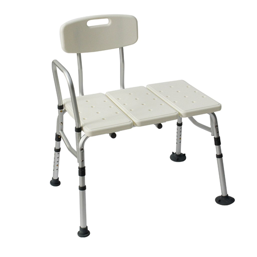 Yxsd Shower/Bath Bench Stools Aluminum Alloy Shower Seat Chair Disability Aid Shower Chair Adjustable Height For Elderly/Disabled/Pregnant Women With Backrest And Handle Bath Bench,White Heavy Duty Ma