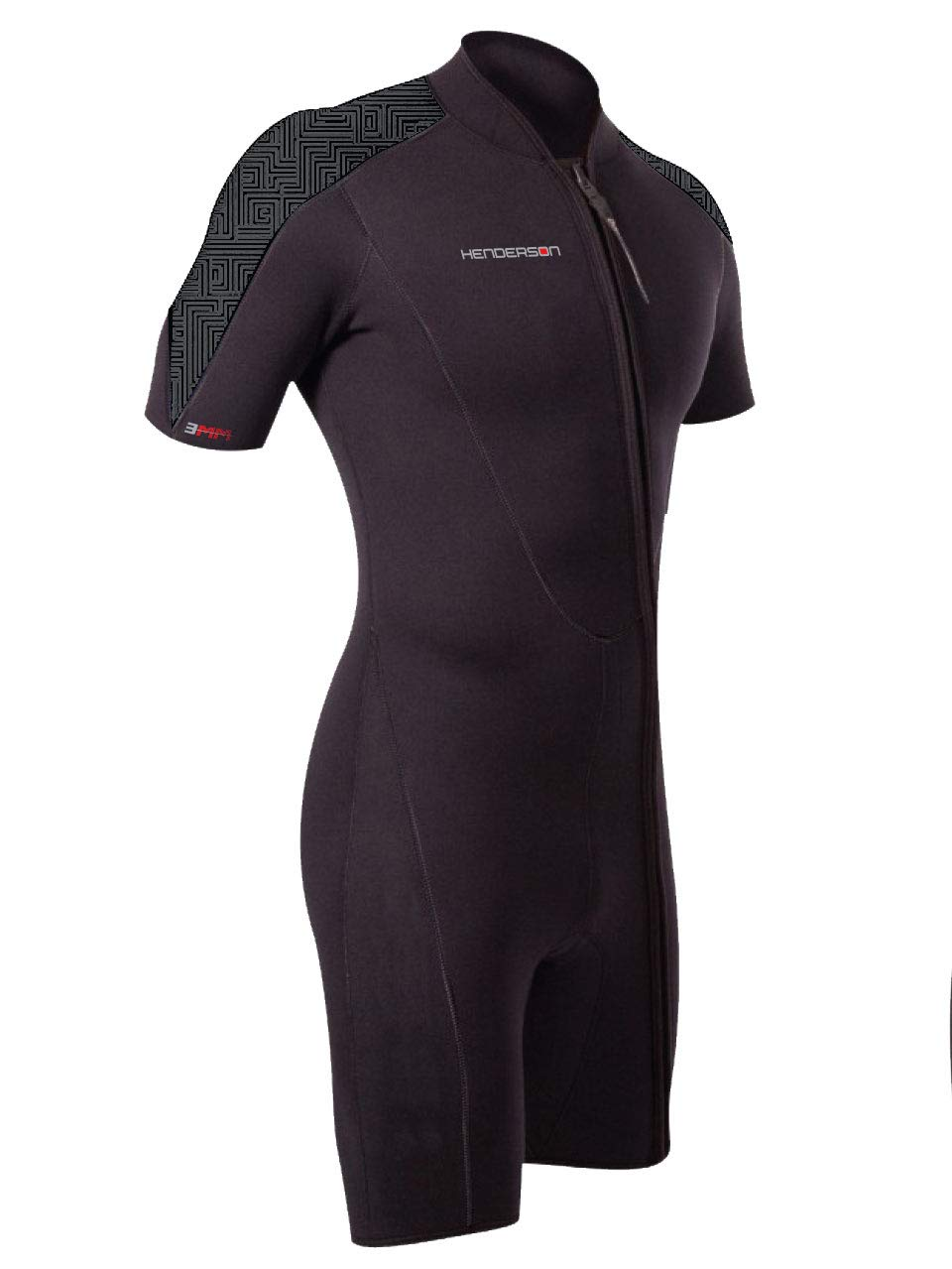 Henderson Thermoprene PRO Mens 3mm Front Zip Shorty Wetsuit 2XL-Tall Black/Graphite by Henderson