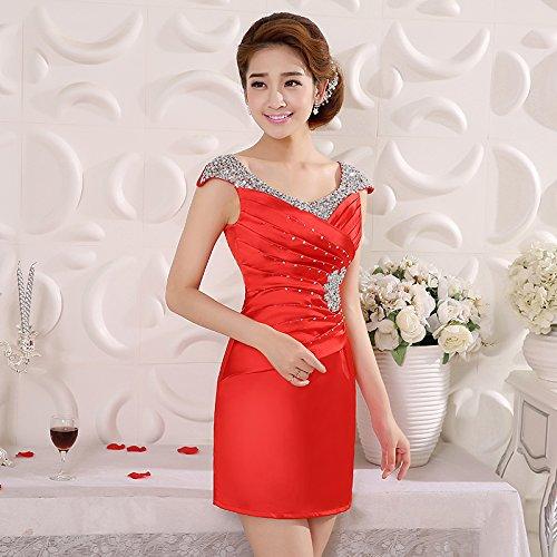 red Dress JKJHAH Dress Female Banquet Large Party Banquet Evening Party Dress HqfHSwFv