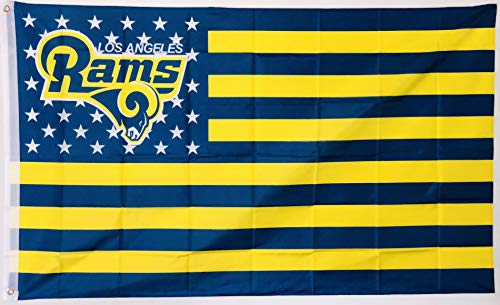 Rams Flag - LA Rams Nation Los Angeles Rams Flag, 3 x 5 Feet for Indoor or Outdoor Use