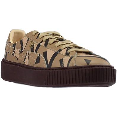 3bc757c94d7 PUMA Unisex x Naturel Platform Cheetah Sneaker Natural Vachetta Wine 11.5  Women   10 Men